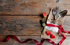 De maaltijdachtergrond van de valentijnskaartendag Royalty-vrije Stock Fotografie