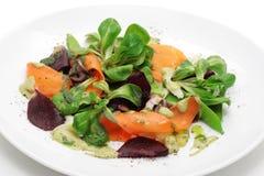De maaltijdsalade van groenten en van kuiten Stock Afbeelding