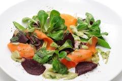De maaltijdsalade van groenten en van kuiten Royalty-vrije Stock Afbeeldingen