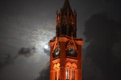 De maan brandt als zon Royalty-vrije Stock Afbeeldingen