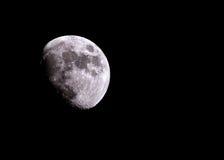 De maan in de nachthemel Royalty-vrije Stock Afbeelding
