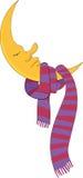 De maan en de sjaal Royalty-vrije Stock Afbeelding