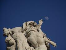 De maan is eng stock afbeeldingen