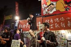 De maan Markt van de Bloem van het Nieuwjaar in Hong Kong Stock Fotografie