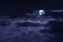 De maan op de donkere hemel Stock Afbeelding