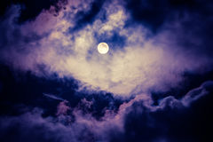 De maan op de donkere hemel Royalty-vrije Stock Fotografie