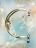 De maan van de fantasie Stock Foto