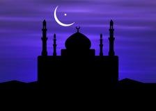 De Maan van de moskee & van de Ramadan stock illustratie