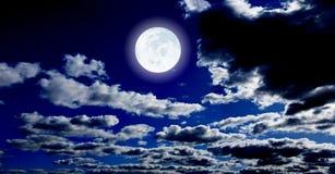 De maan van de nacht Stock Afbeelding