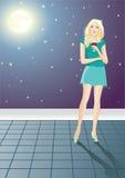 De maan van de nacht Royalty-vrije Stock Afbeeldingen
