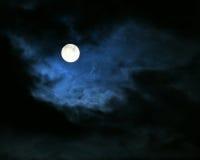 De maan van de nacht Stock Foto