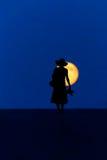 De maan van de vrouwengang Royalty-vrije Stock Afbeeldingen