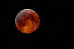 De maan van het koper Stock Foto