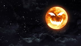De maan van het pompoengezicht stock illustratie