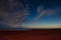 De Maan van het strandmeer Stock Foto's