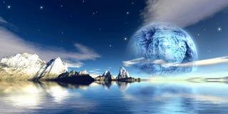 De maan van het titanium Stock Fotografie