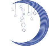 De maan van Kerstmis Stock Afbeelding