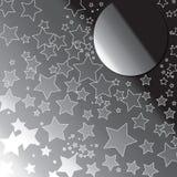 De maan van sterren Stock Foto