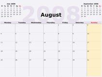 De maandag aan Zondag calen maandelijks vector illustratie