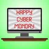 De Maandag van Cyber stock illustratie