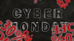 De Maandag van Cyber stock videobeelden