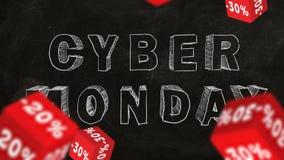 De Maandag van Cyber stock video