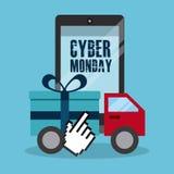 De Maandag van Cyber Stock Afbeeldingen