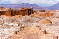 De Maanvallei in Chili stock afbeeldingen