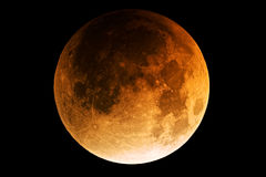 De maanverduistering van de volle maan Stock Afbeeldingen
