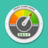 De maat van de kredietscore Stock Afbeeldingen