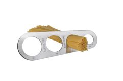 De maatregel van de spaghetti (die op wit wordt geïsoleerdr) Royalty-vrije Stock Afbeelding