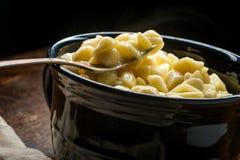 De macaroni en de kaas van Shell royalty-vrije stock afbeelding