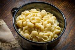De macaroni en de kaas van Shell royalty-vrije stock foto