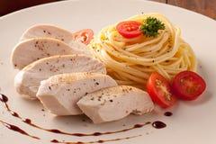De Macaroni van de kip. Stock Afbeelding