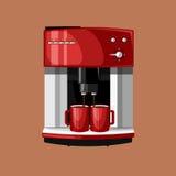 De machine en de koppen van de koffie Stock Foto's
