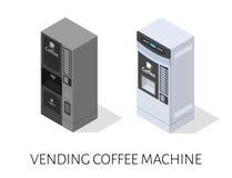 De machine isometrische vector van de verkoopkoffie Royalty-vrije Stock Afbeeldingen
