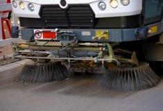 De machine om straten schoon te maken Stock Fotografie