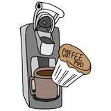 De machine van de koffiepeul Royalty-vrije Stock Fotografie