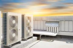 De machine van de luchtcompressor Stock Afbeeldingen