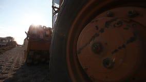 De machine van de stoomweg stock footage