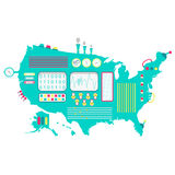 De machine van de V.S. royalty-vrije illustratie