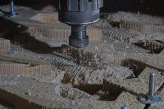 De machine van het houtbewerkingsmalen Stock Foto