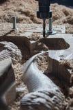 De machine van het houtbewerkingsmalen Stock Fotografie