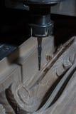 De machine van het houtbewerkingsmalen Stock Foto's