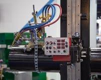 De Machine van het pijplassen stock fotografie