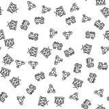 De Machine van het speelgoeduurwerk, trommelt Naadloos Patroon royalty-vrije illustratie