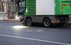 De machine van de straatveger Stock Foto