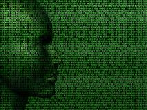 De machinecode van de mens vector illustratie