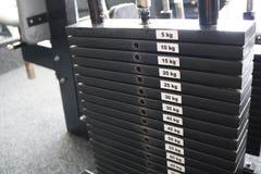 De machinegewichten van Smith Gewicht in kilogram wordt getoond dat stock afbeelding