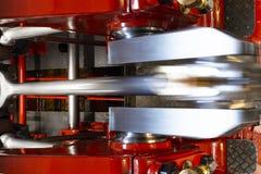 De machineruimte van Loetschberg van de peddelstoomboot stock afbeelding